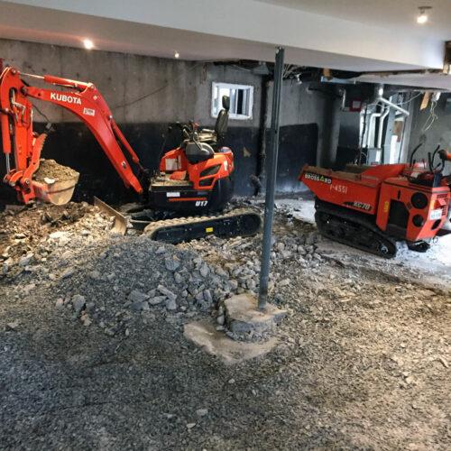 Fondasec Excavation - Pyrite Removal - Enlevement de Pyrite - P02