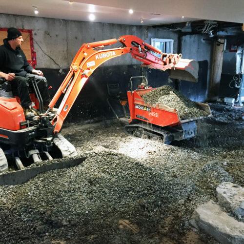 Fondasec Excavation - Pyrite Removal - Enlevement de Pyrite - P03