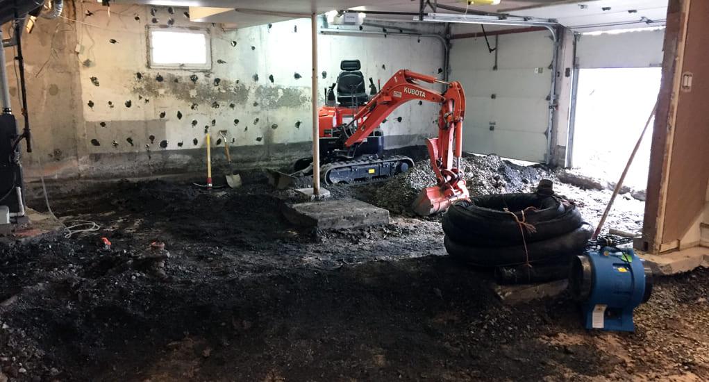 Garage basement - Fondasec - Planchers de Garage et Sous-Sol